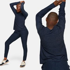 Outdoor Voices | Cloudknit Long Sleeve Navy Top XS